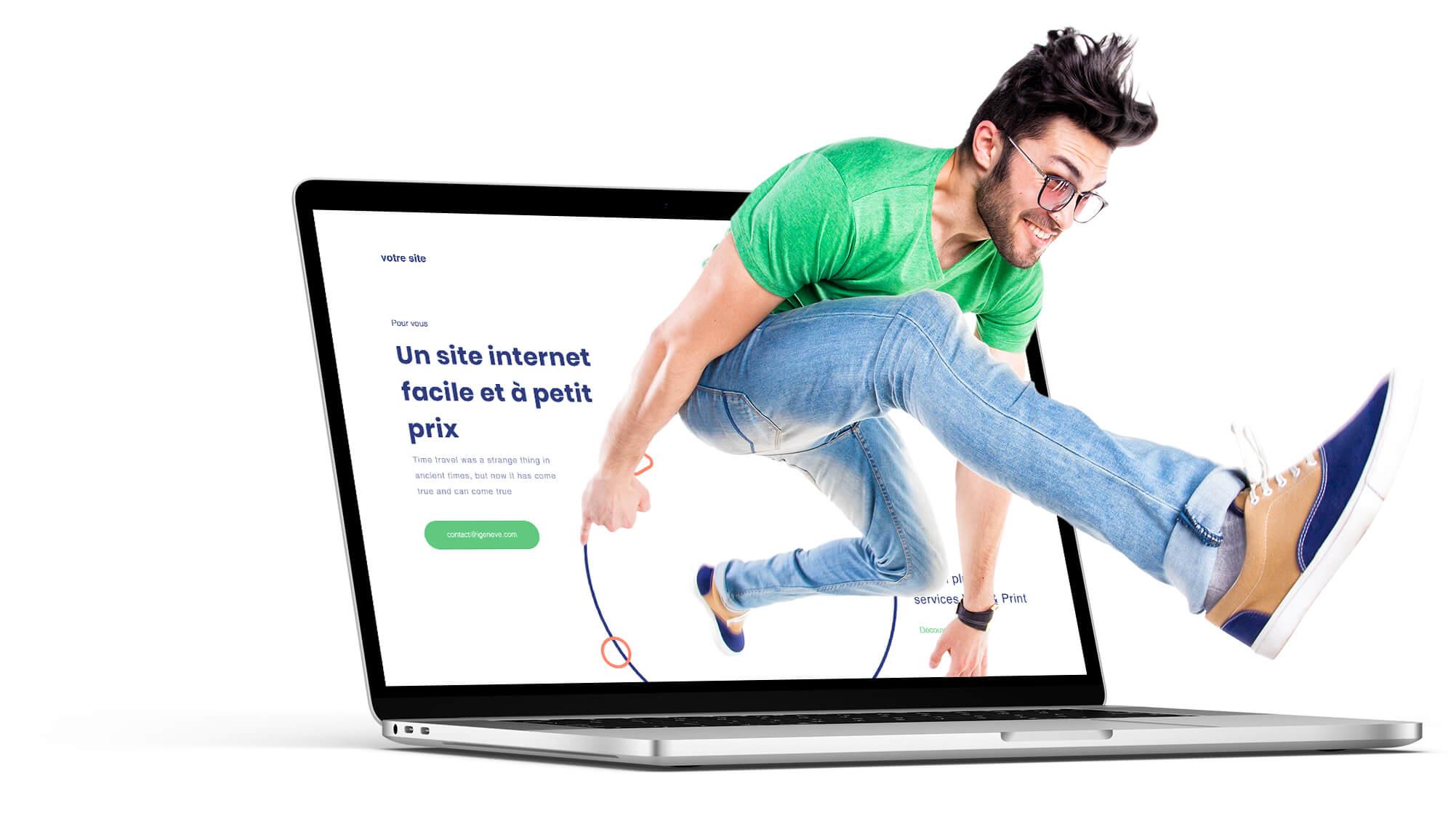 Création de site internet pas cher avec abonnement